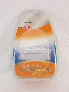 RadioShack 279-105 Dual Modular Adapter DSL Filter Single Line White New  #RadioShack