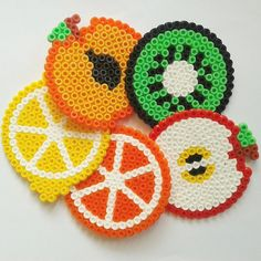 Fruits perler beads by magicoldie