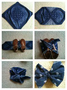 Cute bandana bow