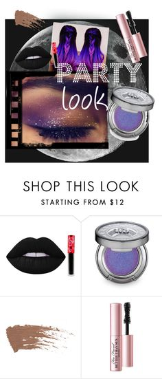 """""""#party #look #galaxy"""" by aneta-sundova on Polyvore featuring beauty, Lime Crime, Urban Decay and Too Faced Cosmetics"""
