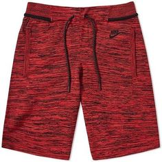 Buy the Nike Tech Knit Short in University Red & Black from leading mens fashion retailer END. - only Fast shipping on all latest Nike products Men's Activewear Shorts, Mens Activewear, How To Wear Joggers, Fashion Pants, Mens Fashion, Fashion Trends, Active Wear, Nike Tech, Knit Shorts