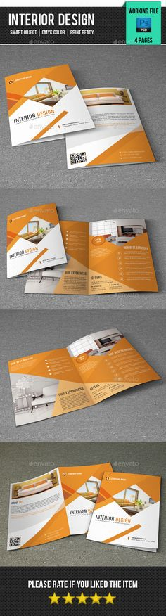 Interior Design Brochure Template PSD #design Download: http://graphicriver.net/item/interior-design-brochurev340/14467124?ref=ksioks