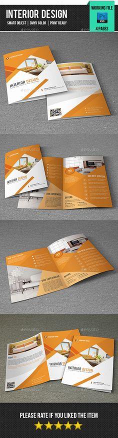 Interior Design Brochure Template PSD #design Download: http://graphicriver.net/item/interior-design-brochurev340/14467124?ref=ksioks