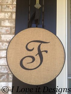 Hey, I found this really awesome Etsy listing at http://www.etsy.com/listing/123147411/initial-burlap-door-hanger