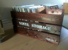 DIY record crate