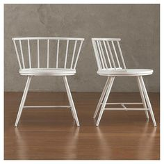 Norfolk Low Windor Dining Chair Wood/White (Set of 2) - Inspire Q : Target