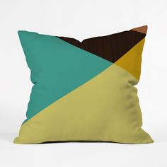 There's no better way to expand a small space than with geometric designs. This pillow cover does just that. Toss it on a white couch or bed for optimum effect.
