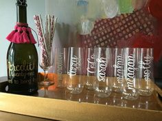 7 stemless champagne glasses by ChampagneSociety on Etsy