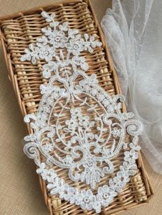 Exquisite Corded Lace Applique, Wedding Dress Applique, Bridal Bodice Lace,Tulle Embroidery Lace Applique By The Piece Applique Wedding Dress, Applique Dress, Embroidery Applique, Embroidery Patterns, Wedding Motifs, Diy Craft Projects, Crafts, Bridal Lace, Wedding Lace