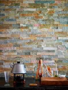Oyster Split Face Mosaics - amazing wall