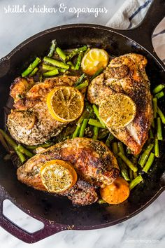 skillet chicken and asparagus- delicious and easy!