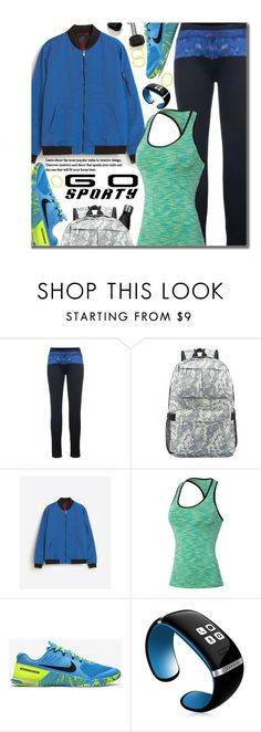 """Sporty"" by beebeely-look ❤ liked on Polyvore featuring NIKE, Samsung, sporty, twinkledeals and gosporty"