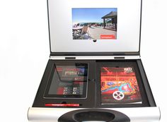 Hocking Stuart Real Estate's A3 Youmans Capsule with iPad custom insert in lid.