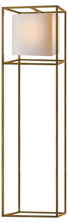 Caged Floor Lamp, Antiqued Brass | Elegant Illumination | One Kings Lane