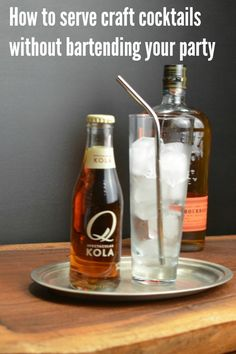 https://www.abarabove.com/party-cocktails-without-a-bartender Always asked to bring the drinks for parties? Here's a cheat that lets you put your guests to work!