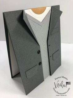 cards handmade ideas tutorials Men Sport Jacket Card, No Tie Day Masculine Birthday Cards, Masculine Cards, Diy Birthday Cards For Dad, Tie Day, Karten Diy, Fathers Day Cards, Card Tutorials, Sports Jacket, Folded Cards