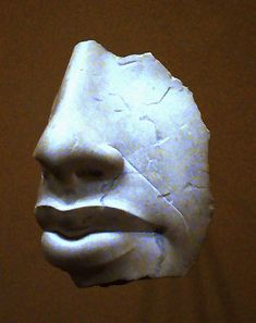 Akhenaten, fragment from Amarna Ancient Egypt Dynasty ca. Details a common Amarna family trait in the narrow nose bridge and full lips Ancient Artifacts, Ancient Egypt, Ancient History, African History, African Art, Black History, Art History, Pin Up, African Diaspora