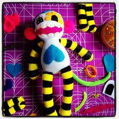 Sugar Skull Sock Monkey DIY kits @ staceyjean.com