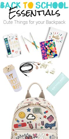 Backpack essentials for middle school and highschool girls