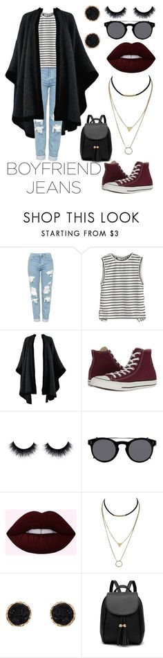"""Untitled #93"" by aliceatwarped ❤ liked on Polyvore featuring Topshop, Yves Saint Laurent, Converse, Valentino, Lime Crime and Humble Chic"