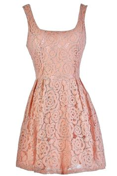 #Lily Boutique - #Lily Boutique You're Blushing Floral Lace A-Line Dress in Dusty Pink - AdoreWe.com