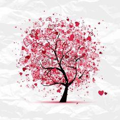 Albero di San Valentino con il cuore per la progettazione
