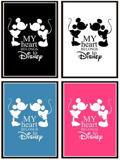 My heart belongs to Disney - mickey and minnie mouse print for kids room. Buy it on EpicDesignShop.com. Typography, illustration, digital print, cartoon, wall art, interior, blue, pink Design Shop, Print Design, Cartoon Wall, Kids Prints, Disney Mickey, Digital Prints, Minnie Mouse, Kids Room, Typography