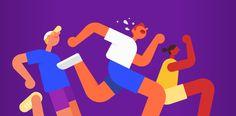 Google Fit website header illustrations