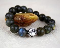 Labradorite Bali Sterling Silver Beaded by PlatiniFineJewellery, $24.00