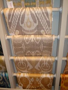Cream, gold, beige, mauve, silk ikats
