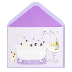 Join Me Bubble Bath Love Card