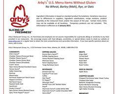 arby's menu gluten free  »  9 Picture »  Amazing..!