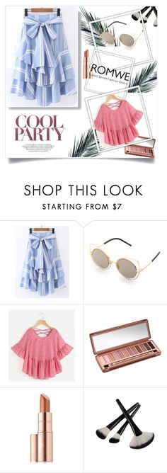 """""""Romwe 7"""" by ajisa-ikanovic ❤ liked on Polyvore featuring Urban Decay and Estée Lauder"""