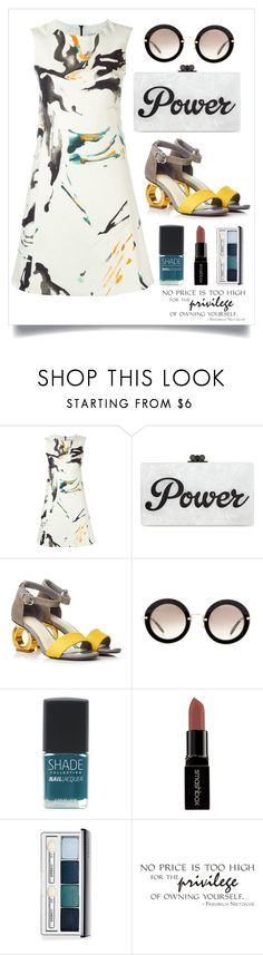 """""""Power"""" by cara-mia-mon-cher on Polyvore featuring Eggs, Edie Parker, Miu Miu, SHADE Collection, Smashbox and Clinique"""