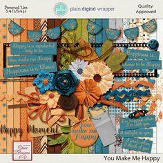 You Make Me Happy #graceblosssoms4U #digital #digitalscrapbook #scrapbookkit  #pagekit #photography #scrapbook