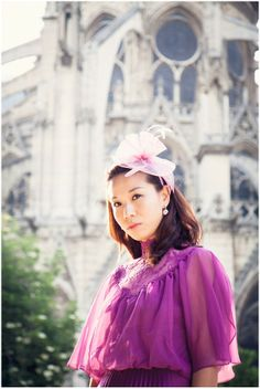 Hong Kong bride to be in Paris in vintage couture © Yolanda Villagran #fashion