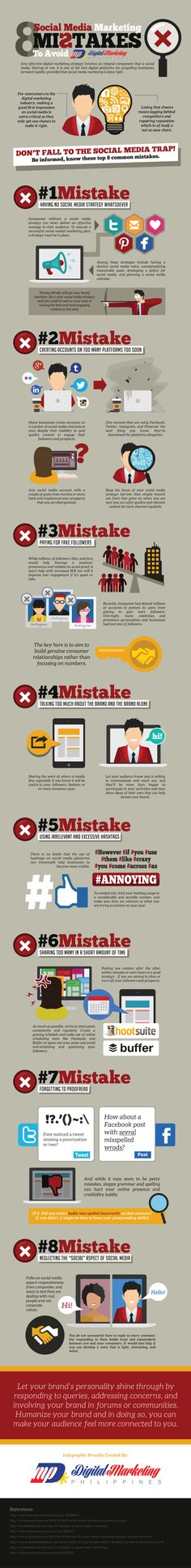 8 Social Media Mistakes That Will Destroy Your Online Reputation #Infographic