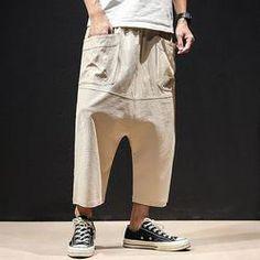 af5ca4cffe Mens Harem Pants Slacks Shorts Sport Sweatpants Trousers