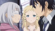 Black Bullet Episode 8 - While Enju and the other cursed children are still shunned from society, Rentarou finds a place for them. 2014 Anime, Black Bullet, What Is The Secret, Mirai Nikki, Cursed Child, Noragami, Death Note, Tokyo Ghoul, Spring 2014