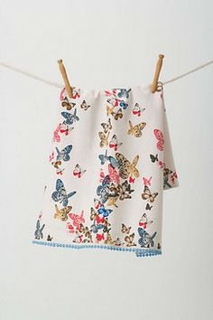 Winged Menagerie Dishtowel - contemporary - dishtowels - Anthropologie
