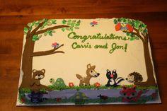 Baby+Woodland+Animals+Cake+Decorations   Woodland Animals Theme Baby Shower Cake