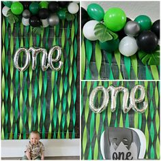 Wild One Jungle Party – Our Idaho Roots A JUNGLE BIRTHDAY PARTY for our little monkey! He really is a WILD ONE… a sweet one, a silly one, a smart one, and my favorite little one! We had a great time celebrating his first year of li… Boys First Birthday Party Ideas, Wild One Birthday Party, Birthday Themes For Boys, Baby First Birthday, Boy Birthday Parties, First Birthday Decorations Boy, Monkey Birthday, Birthday Table, Jungle Theme Parties