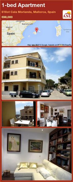 1-bed Apartment in S'Illot Cala Morlanda, Mallorca, Spain ►€88,000 #PropertyForSaleInSpain