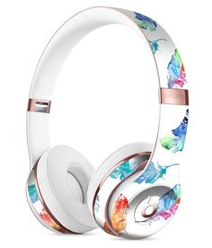 Watercolour Feather Floats Full-Body Skin Kit for the Beats by Dre Solo 3 Wireless Headphones