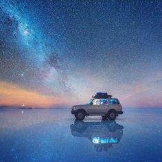 presents the N I G H T S C A P E R Photo Award to . Salar de Uyuni - the world's largest salt flat, Bolivia. Congratulations to Daniel Kordan. 1 of 3 images we are featuring today that Daniel took during his Altiplano photo expedition, April-May Scale Of The Universe, Natural Mirrors, Night Sky Photos, Russian Landscape, Destinations, Destination Voyage, To Infinity And Beyond, Milky Way, Landscape Photographers