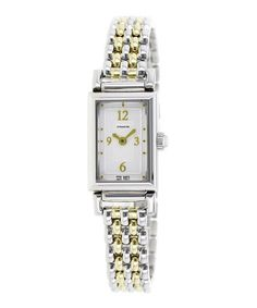 Loving this Silver & Gold Madison Watch on #zulily! #zulilyfinds