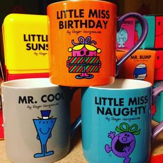 I'm sure we can all think of someone that suits each of these new Mr. Men & Little Miss mugs! bloomsburystore.com #mrmenlittlemiss #indieretail #wildandwolf #seekersoftheunfound Mr Men Little Miss, Thinking Of Someone, Kitchen Things, Tea Sets, Indie, Characters, Canning, Suits, Instagram Posts
