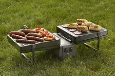 Sports fans, rejoice! Be the king of the tailgate with the Elevate Grill, the world's largest, most portable grill ever!