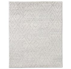 RH's Double Diamond Moroccan Wool Rug - Silver:Masterfully hand knotted from naturally multicolored, undyed wool, this rug has a luxuriant pile and richly heathered character. Our rugs are artisan crafted and no two are alike. Given their handwoven nature, slight variations in shading and size are inherent to the design. Imported. 80% wool, 20% cotton.Deluxe Rug PadLow Profile Rug Pad