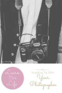 {Tips for choosing your wedding day photographer}